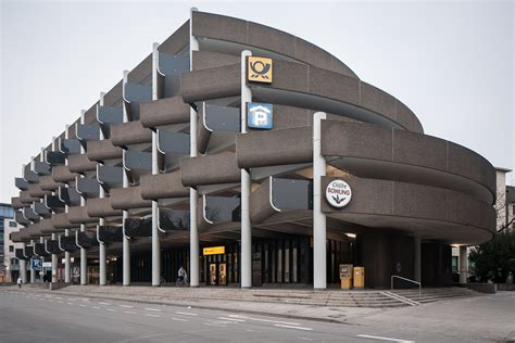British Houses by File Car Park Brutalist Architecture Hanover Germany Jpg