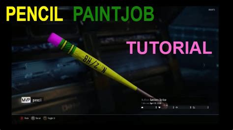 mvp pattern youtube mvp baseball bat pencil paintjob tutorial black ops 3