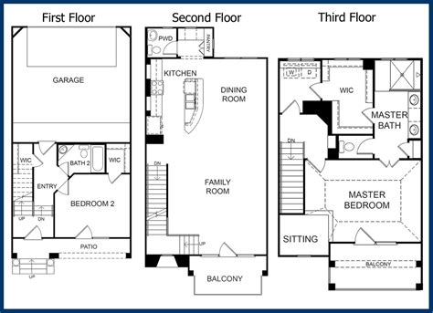 3 story floor plans the parkway luxury condominiums