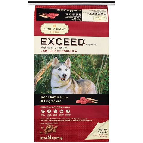 sams club dogs simply right exceed and rice formula food 44 lb ebay