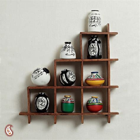Decorative Items For Home Online by Wall Decor With Miniature Pots Home Decor Apno Rajasthan