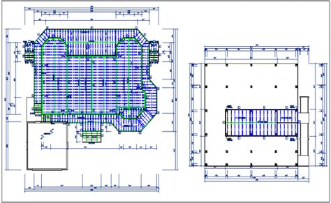 Building Floor Plan Detail With Roof Projection View Dwg File | residential house plan detail roof projection plan view