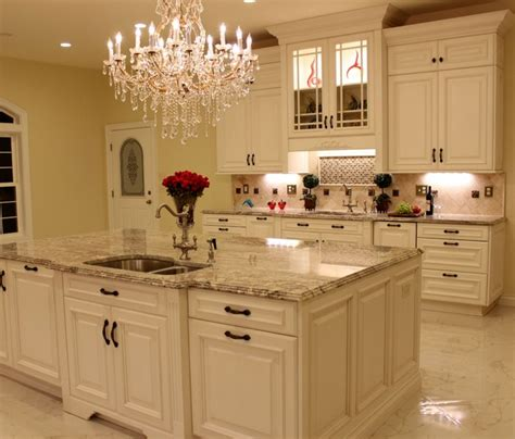 luxurious kitchen cabinets luxurious kitchen w antique white cabinetry