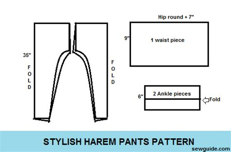 stylish harem pants diy pattern to sew them sew guide