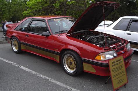 scarlet 1987 saleen ford mustang hatchback