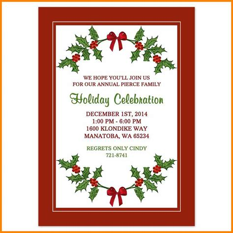 christmas invite template microsoft word 5 invitation template word cio resumed