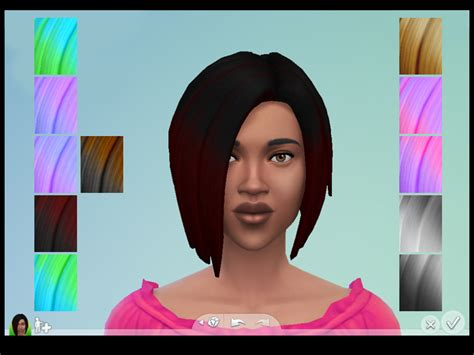sims 4 ombre hair plumbobfae s short wedge ombre recolors