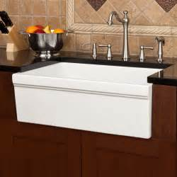 Italian Kitchen Sinks 30 Quot Damali Italian Fireclay Farmhouse Sink White Kitchen