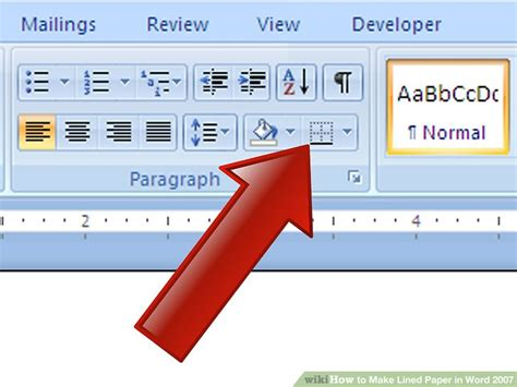 How To Make Lined Paper In Word - how to make lined paper in word 2007 4 steps with pictures