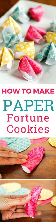 How To Make Paper Fortune Cookies - 1000 ideas about decorations on