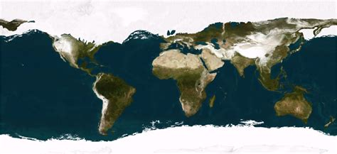 ice age r city a realistic satellite view of the world during the last
