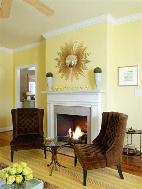 Yellow Living Room Walls | yellow living room design ideas