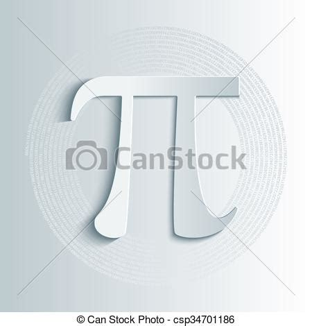 pi pattern finder vector of pi symbol icon with numbers in circular pattern