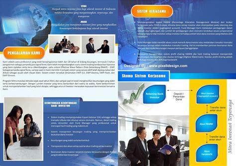 desain cover brosur contoh desain brosur forex dengan corak desain futuristik