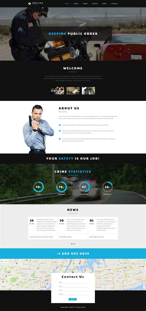 templates for police website police department joomla template
