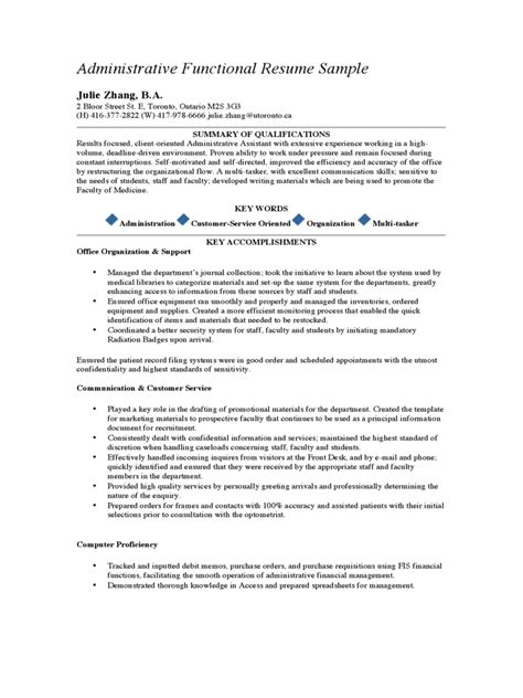 administrative assistant skills resumes amitdhull co
