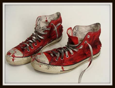 customize chuck shoes custom made bloody shoes vintage chucks