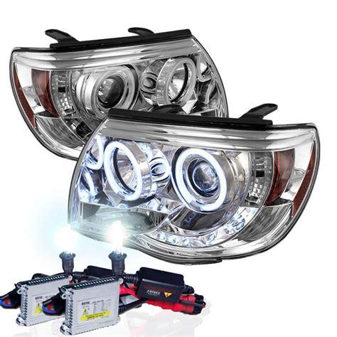Projector Hid xenon hid kit 05 11 toyota tacoma halo led projector headlights chrome