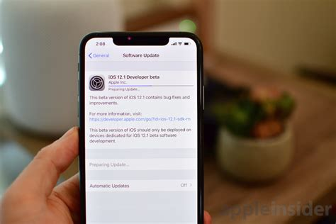 new builds of ios 12 1 beta released to support iphone xs and iphone xs max
