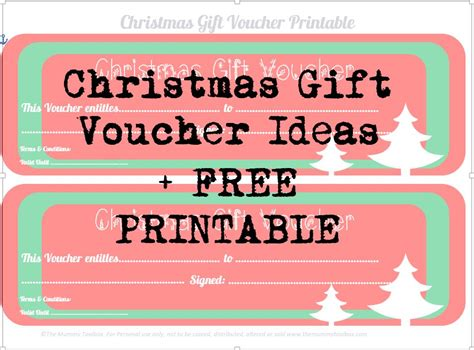 printable christmas gift vouchers  mummy toolbox