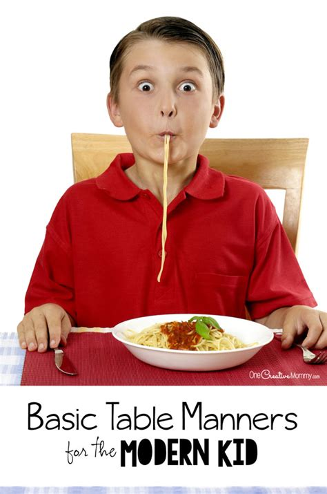 table manners for basic table manners every kid should