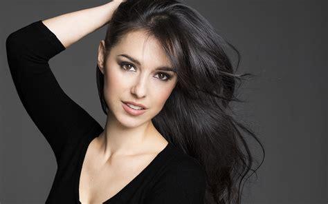 dark haired women wallpaper face women long hair black clothing singer