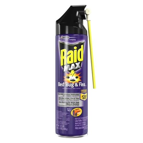 raid bed bug killer raid max bed bug flea killer 17 5 ounces walmart com
