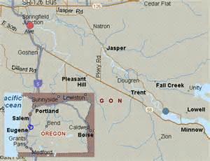 Springfield Comfort Inn Map For Willamette River Middle Fork Oregon White