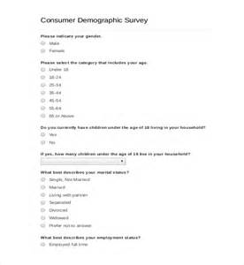 Demographic Survey Template Word 11 demographic survey templates free sle exle