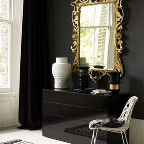 Black And Gold Interior by Decorar Dormitorio Dorado