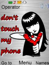 gif themes for mobile phones don t touch my phone mobile themes for nokia asha 203