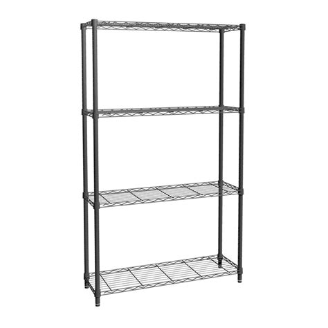black wire shelving 160 x 90 x 30cm 4 tier black chrome wire shelving