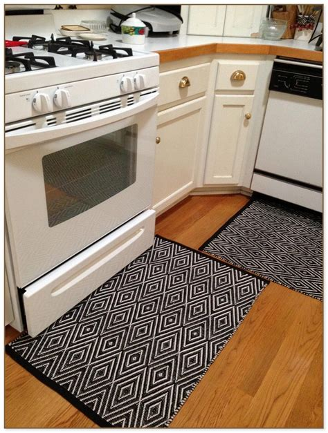 White Kitchen Rugs Black And White Kitchen Rugs
