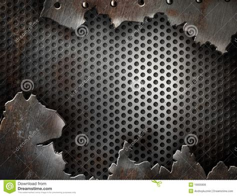 Grunge Metal Cracked With Rivets Template Stock Photo Image Of Edge Abstract 16605806 Metal Template