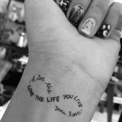 tattoo love the life you live tattoo ideas live the life you love image 2098116 by