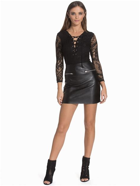 Mini Leather Dress lovely in leather jena goldsack in a leather mini