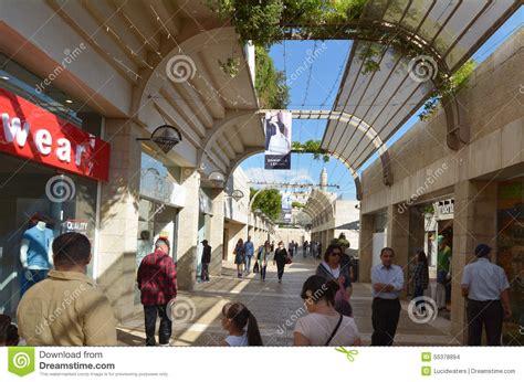 mamilla shopping mall in jerusalem israel editorial stock image image 55378894