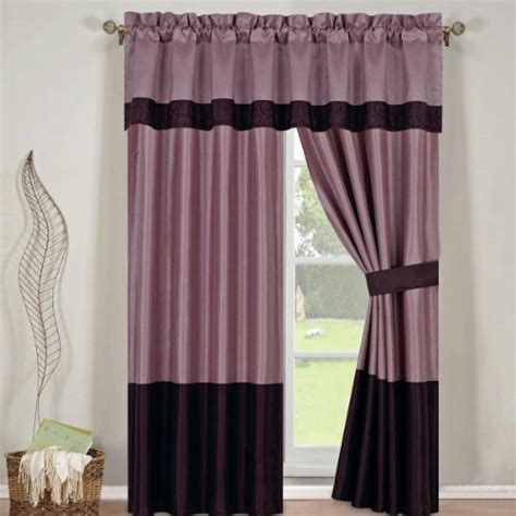 curtains in a bag bed in a bag set wendy purple 13 pieces queen size