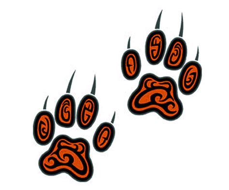 lion paw tattoo paw designs clipart best