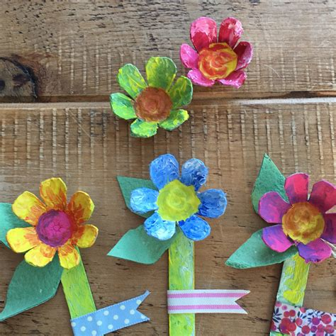 crafts flower s day egg box flowers craft