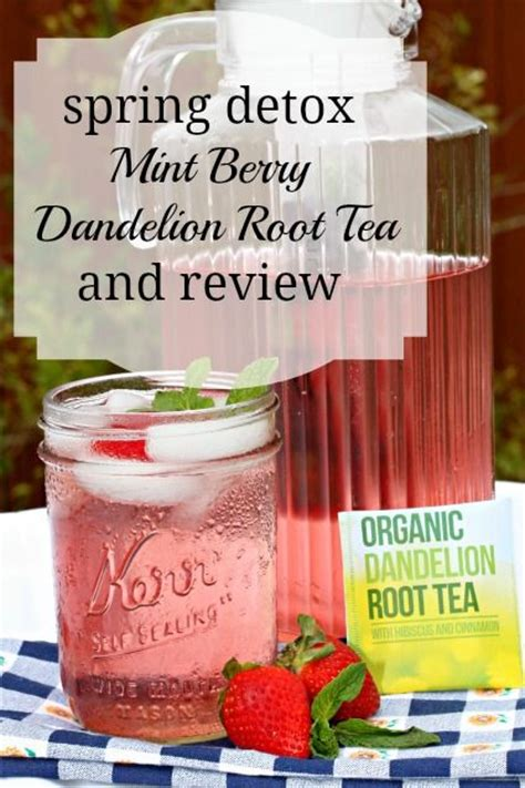 Dandelion Detox Water by Dandelion Root Tea Dandelions And Berries On