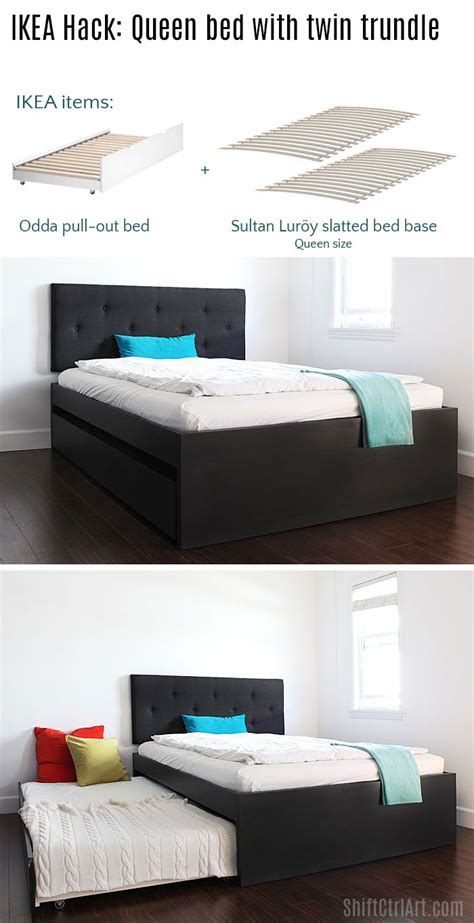 flaxa ikea hack how to build a queen bed with twin trundle ikea hack