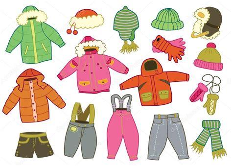 imagenes de invierno caricatura colecci 243 n de ropa de invierno los ni 241 os vector de stock