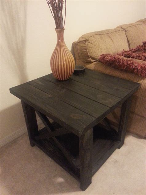ana white rustic   table diy projects