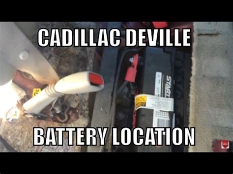 2002 cadillac battery replacement cadillac battery location