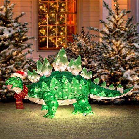 animated stegasaurus dinosaur christmas decoration the