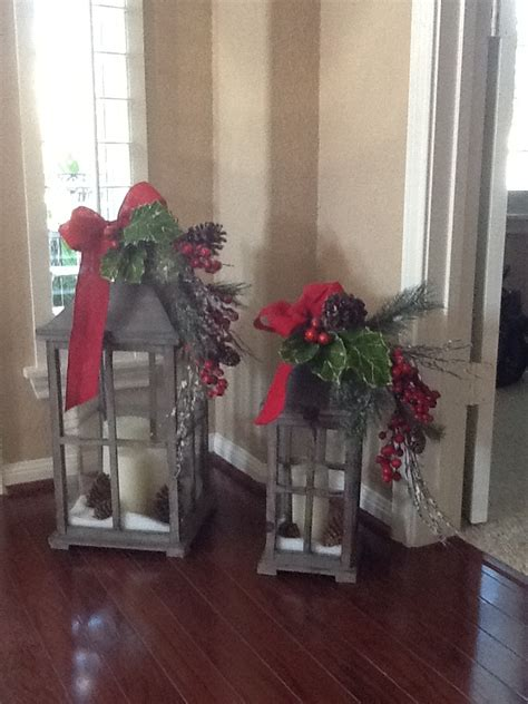 my christmas lanterns christmas pinterest