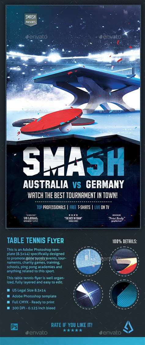 Table Tennis Flyer Ping Pong Tournament Poster Template By Stormdesigns Ping Pong Tournament Flyer Template
