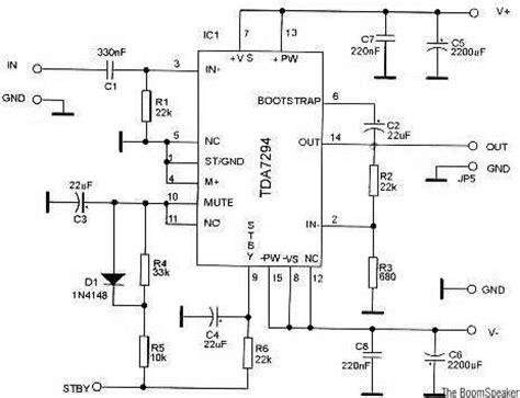 An17823a Btl 4w Mono Power Lifier tda7294 audio lifier circuits