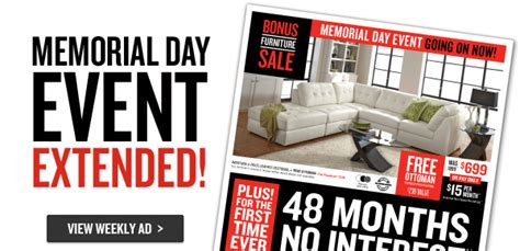 memorial day couch sales memorial day event extended 48 months no interest shop now